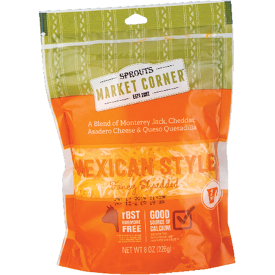 Market Corner Shredded Mexican Style Cheese