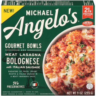 Michael Angelo's Gourmet Bowls Meat Lasagna Bolognese with Italian Sausage