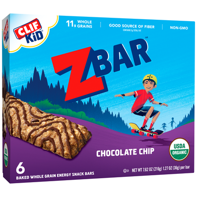 CLIF Kid CLIF Kid Zbar Organic Chocolate Chip Baked Whole Grain Energy Snack Bars
