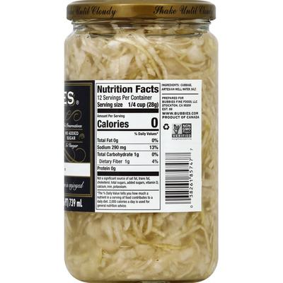 Bubbies Sauerkraut