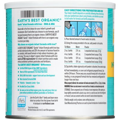 Earth's Best Infant Formula with Iron