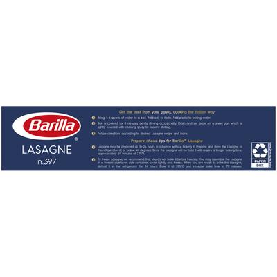Barilla® Classic Blue Box Oven Pasta Wavy Lasagne