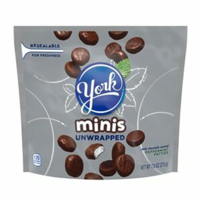 YORK Peppermint Patties, Dark Chocolate Covered, Unwrapped Minis