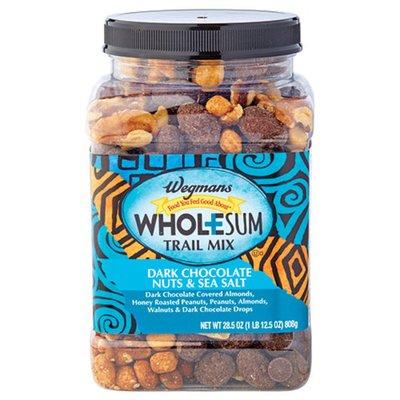 Wegmans Dark Chocolate Nuts & Sea Salt Wholesum Trail Mix