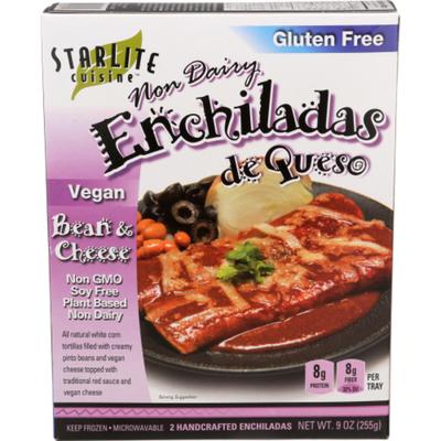 Starlite Vegan Bean & Cheese Enchiladas