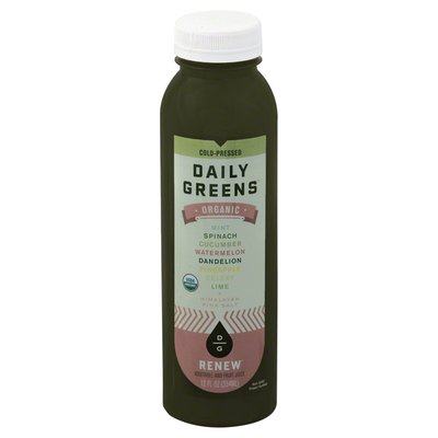 Daily Greens Vegetable and Fruit Juice, Organic, Renew