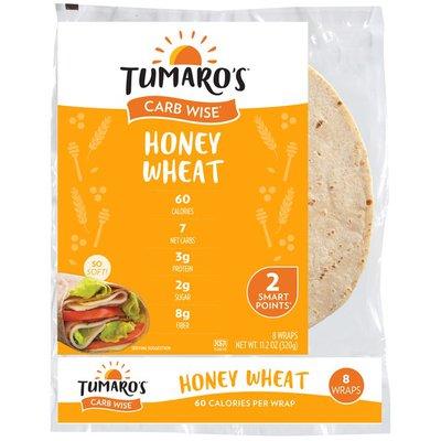 Tumaro's Honey Wheat Carb Wise Wraps