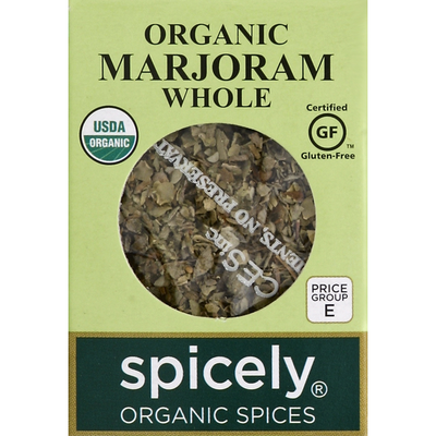 Spicely Organics Marjoram, Whole, Organic