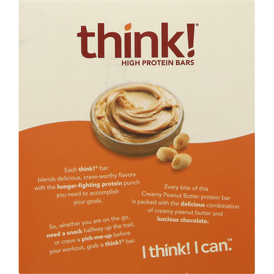 Think! High Protein Bars, Creamy Peanut Butter