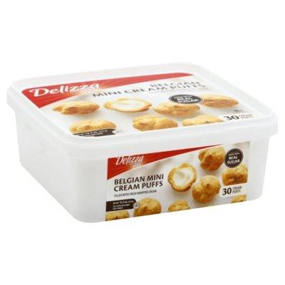 Delizza Puffs, Belgian Cream, Mini