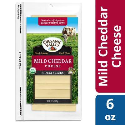 Organic Valley Organic Mild Cheddar Cheese Slices