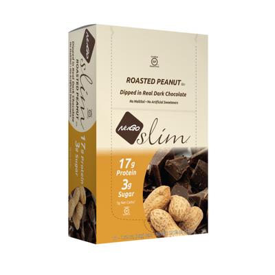 NuGo Slim Roasted Peanut, Gluten Free, Low Sugar, High Protein Bar