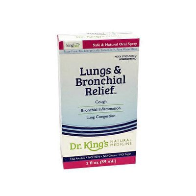 King Bio Lungs & Bronchial Relief, Safe & Natural Oral Spray