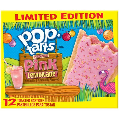Kellogg's Pop-Tarts Limited Edition Frosted Pink Lemonade Toaster Pastries