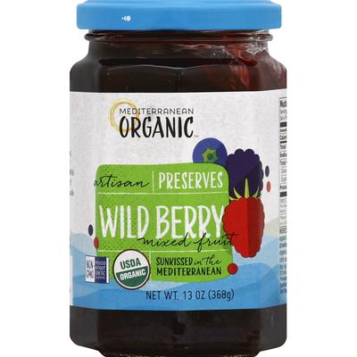 Mediterranean Organic Preserves, Artisan, Wild Berry Mixed Fruit