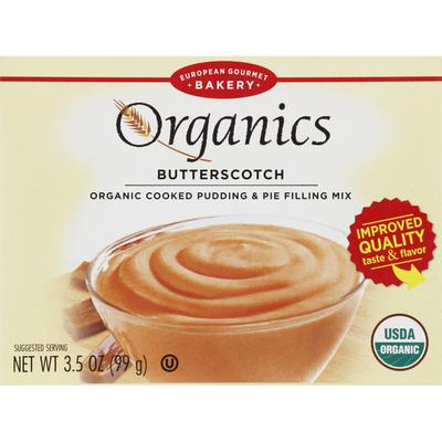 European Gourmet Bakery Pudding & Pie Filling Mix, Organic Cooked, Butterscotch