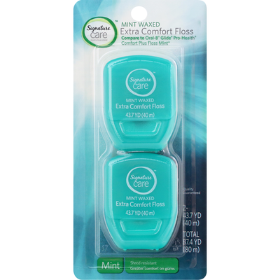 Signature Care Floss, Extra Comfort, Mint Waxed