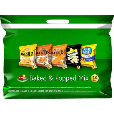 Frito Lay's Baked & Popped Mix Snacks
