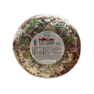 DOGTOWN Pizza Naturals VEGGIE FRESH MUSHROOMS, GREEN PEPPERS, RED ONIONS St. Louis Style Frozen Pizza