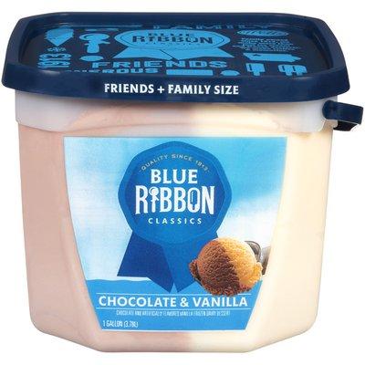 Blue Ribbon Classics Ice Cream, Chocolate & Vanilla, Friends + Family Size