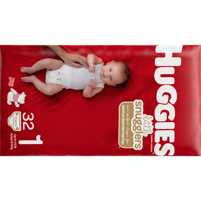 Huggies Baby Diapers, Size 1