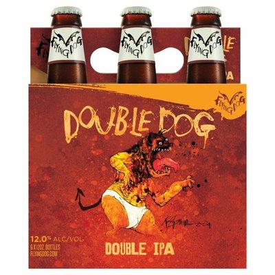 Flying Dog Beer, Double IPA, Double Dog