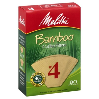Melitta Coffee Filters, Bamboo, No. 4