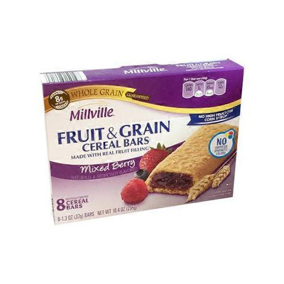 Millville Mixed Berry Fruit & Grain Cereal Bars