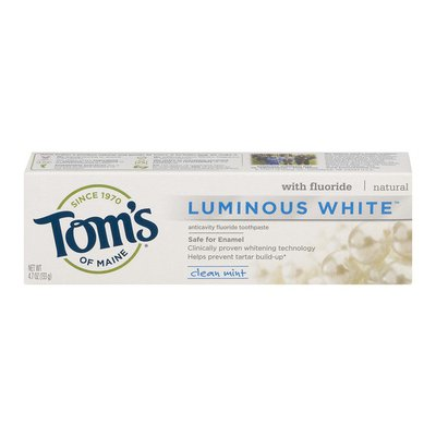 Tom's of Maine Luminous White Anticavity Fluoride Toothpaste Clean Mint