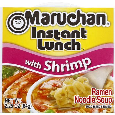 Maruchan Instant Lunch with Shrimp Ramen Noodle Soup