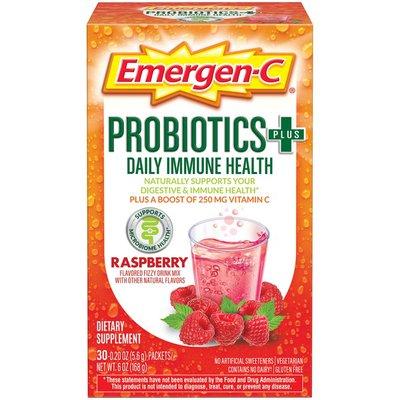 Emergen-C Probiotics+ Fizzy Drink Mix Raspberry, Probiotics+ Fizzy Drink Mix Raspberry