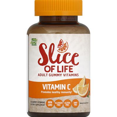 Slice Of Life Vitamin C, Adult Vitamins, Premium, Gummy Slices