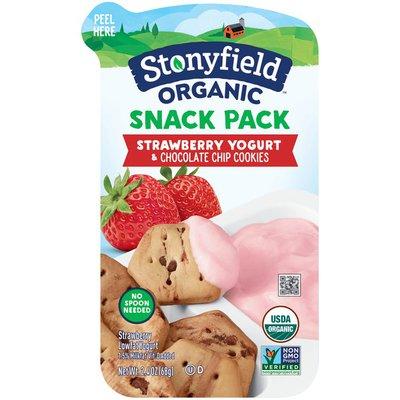 Stonyfield Organic Snack Pack Strawberry Yogurt & Chocolate Chip Cookies