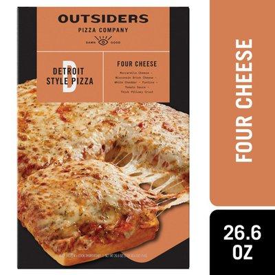 Outsiders Pizza Company COMPANY Three Cheese Detroit Style Frozen Pizza