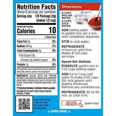 Jell-O Sugar Free Strawberry Gelatin Mix