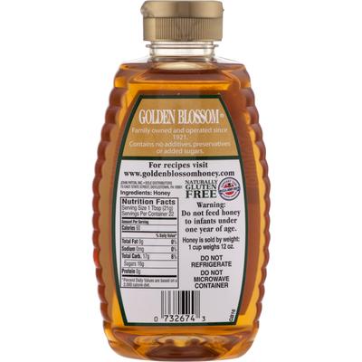 Golden Blossom Honey Honey, Premium Pure US