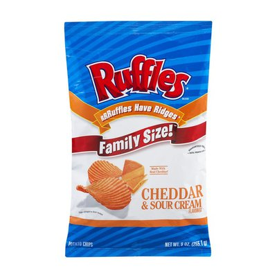 Ruffles Family Size Cheddar & Sour Cream Flavored Potato Chips
