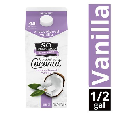 So Delicious Dairy Free UHT Unsweetened Vanilla Coconut Milk