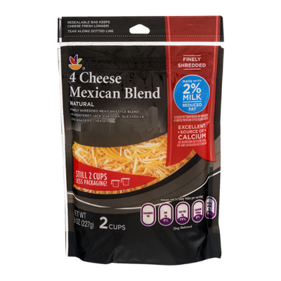SB Cheese, Mexican, Reduced Fat