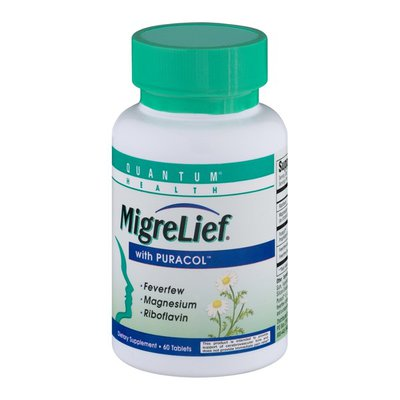 Quantum Health MigreLief with Puracol - 60 CT