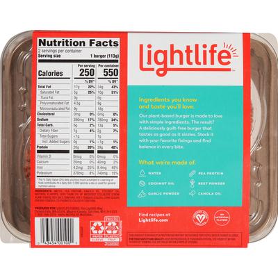 Lightlife Burger, Plant-Based