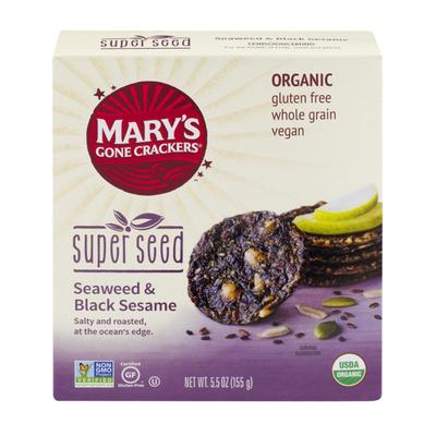 Mary's Gone Crackers Seaweed Black Sesame