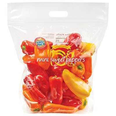Wegmans Peppers, Sweet, Mini, FAMILY PACK