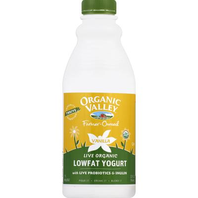 Organic Valley Yogurt, Lowfat, Live Organic, Vanilla