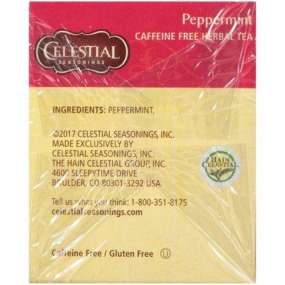 Celestial Seasonings Peppermint Herbal Tea, Caffeine Free