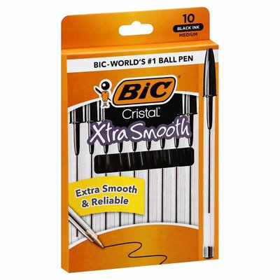 BiC Ball Pens, Xtra Smooth, Black Ink, Medium