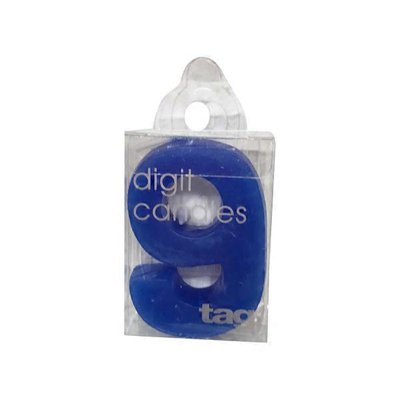 Tag Number 9 Digit Party Candle