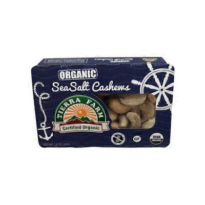 Tierra Farm Organic Roasted Salted Cashews