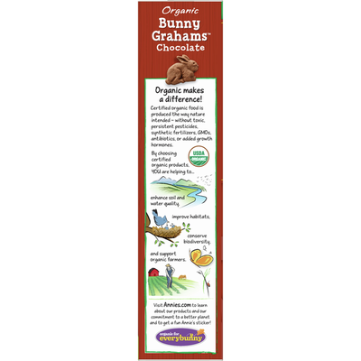 Annie's Organic Chocolate Bunny Graham Crackers