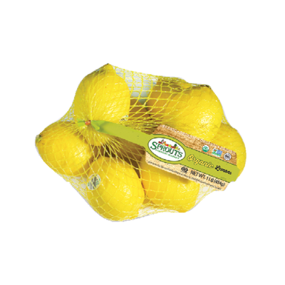 Sprouts Organic Lemon Bag